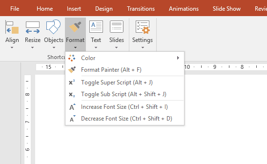 powerpoint shortcuts pdf