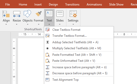powerpoint keyboard shortcuts